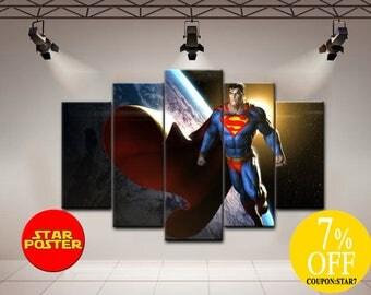Superman canvcas, Superhero art, Superman art, DC comics art, Superman home decor, Clark Kent, DC comics canvas, Clark Kent print, Superhero