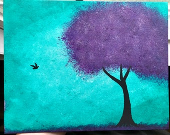 Tree painting FREE shipping