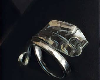 Pure Silver Leaf Ring