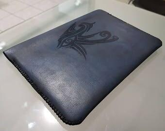"""Leather case """"White Glint"""""""