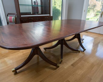 Duncan Phyfe Inlaid Dining Table