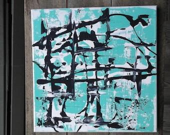 Original blue acrylic painting