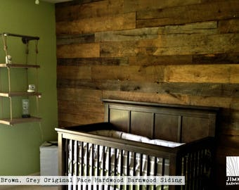 Reclaimed Barn Wood Accent Wall Planks | Original Face | All Brown