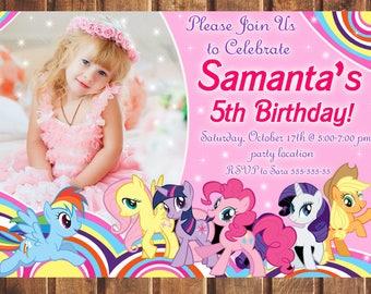 My Little Pony Birthday Invitation, My Little Pony Birthday, My Little Pony Invitation, My Little Pony Party, My Little Pony
