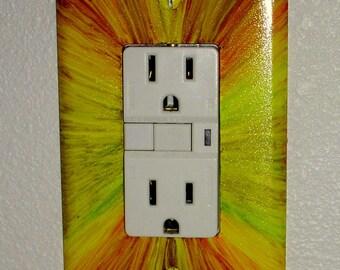 SUNBURST Light Switch Plate