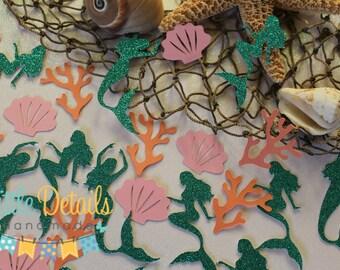 Mermaid Table Confetti, Under The Sea Confetti, Mermaid Birthday, Baby Shower Confetti