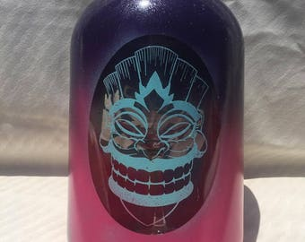 Tiki Face Solar Light, Custom Painted, 1 Gal.Size