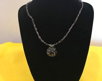 Handmade Glass Sea Anemone Necklace