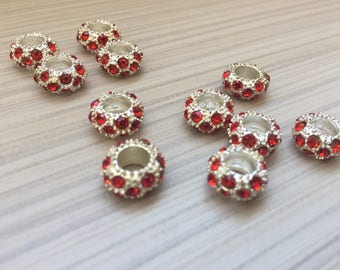 Rhinestone beads spacer