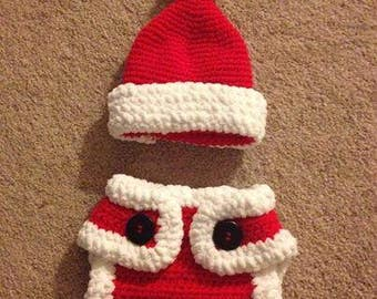Crochet Santa Newborn Set