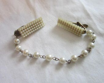 Antique Faux Pearl Dress or Sweater Clip