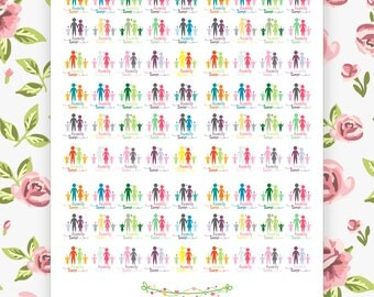 Printable Family Time Planner Stickers