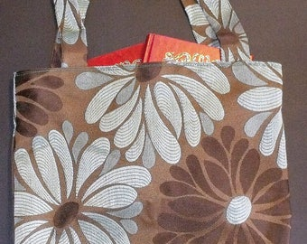 Tote bag, fully lined, handmade, fully reversible