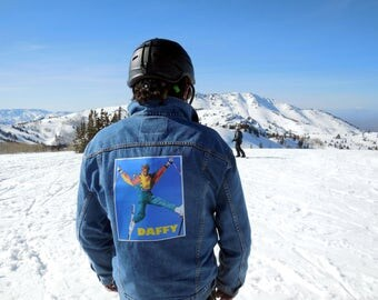 Retro Skiing Levi's Men's Jacket XL one of a kind