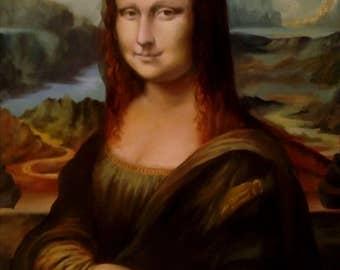 Oil painting Mona Lisa, Gioconda copy картина маслом Мона Лиза, Джоконда копия