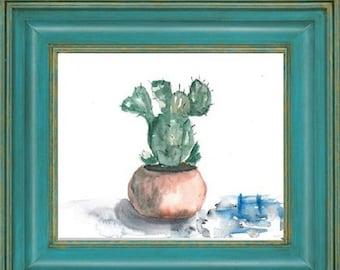 Original miniature ~Fine art~Art Flowers ~Watercolor Painting~Studio decor