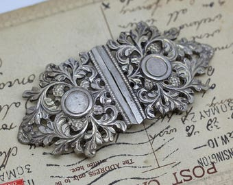 Solid Silver Vintage Belt Buckle