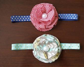 Flower fabric headband