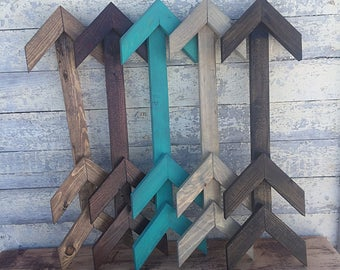 Rustic Arrow-Arrow wall decor-Rustic Arrow-Stained wooden arrow-Painted wooden Arrow-wood arrow-rustic wooden arrow-western wall decor