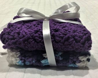 Handmade Crochet Cotton Dishcloth/Washcloth Set
