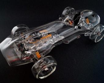 Old F1 car, borosilicate glass
