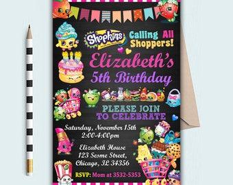 Shopkins Shopkins Invitation Shopkins Birthday Shopkins
