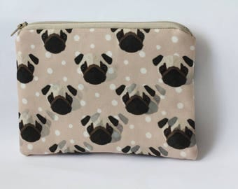 Pug Dog Purse Animal Clutch Psychedelic Gift Coin Purse Animal Lover Gift for Her