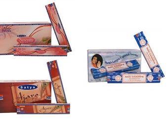 Satya Sai Baba - 15 stick box - Ajaro, Serenity & Nag Champa