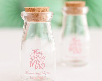 Personalized Wedding Vintage Milk Jars (set of 12)