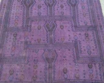 Oushak Rug,Vintage Turkish Kilim Rugs, Anatolia purple cicim Rug,4×5Ft,Home Living,Large Rugs Cicim Kılıms, Purple floor rug canvas carpet,