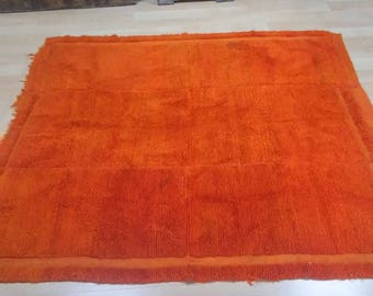 "Oushak Rug,Vintage Turkish Oushak rug Orange,vintage wool carpet, Home Decorative,4'9""×5feet, Home living, Area Rug,Rugs,Vintage rugs,"
