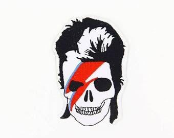 David Bowie Patch David Bowie Iron On David Bowie Birthday David Bowie Gift NOT David Bowie embroidery design David Bowie applique design