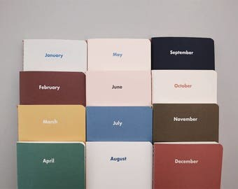 Monthly Diary / Month by Month / Simple Planner / 04-d