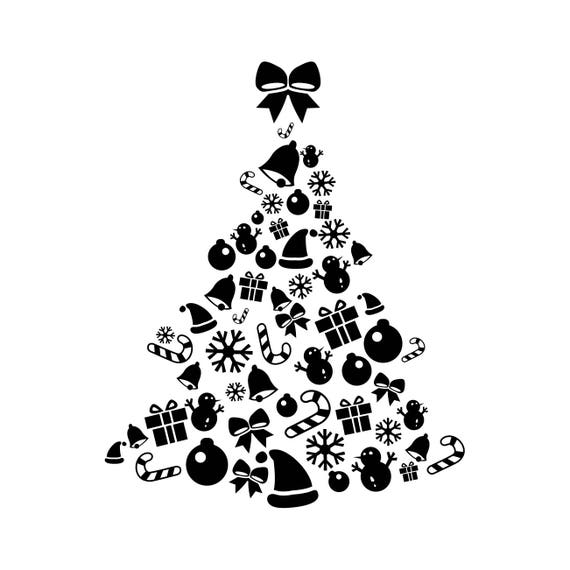 Christmas tree elements graphics svg dxf eps png cdr ai pdf for Art et decoration pdf