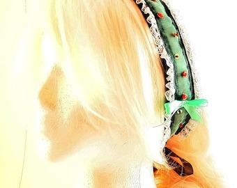 headband grey and turquoise
