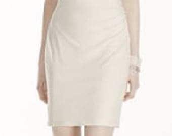 Short Jersey Dress with Cutout Pearl Shoulders