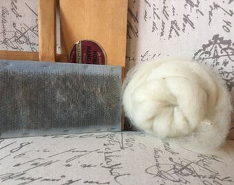 Undyed Wool Roving For Spinning Or Felting