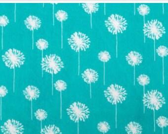 Teal/Snow Premier Dandelion Cuddle From Shannon Fabrics