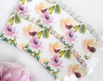 Floral Planner Page Markers | fits any planner!