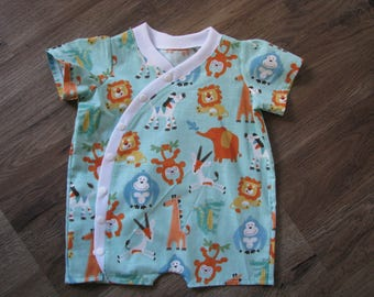 Woven cotton short onsie