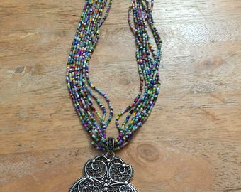 Handmade seed bead necklace -Japanese seed beads