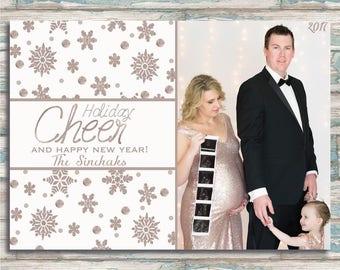 Holiday Cheer - Christmas - Hanukkah - Kwanzaa - Greeting Card