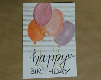 Original handmade greeting card - Happy birthday
