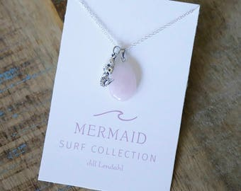 Mermaid and Gem Pendant Necklace