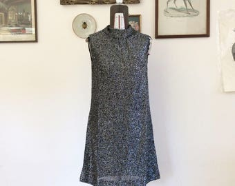 Factory Girl! 60 vintage silver lurex dress size S