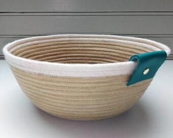 Cotton strings - vegetable dye - Ropebowl - Ropebasket Bowl