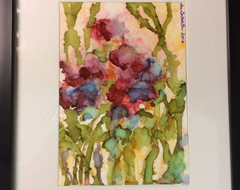 Spring Flowers on Yupo Paper