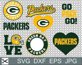 Green Bay Packers Logo SVG Eps Dxf Jpeg Format Vector Design Digital Download File Silhouette Studio Cameo Cricut Design Cutting Machines