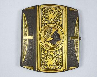 HOLD for Chen-Antique Damasquin Cigarette Case