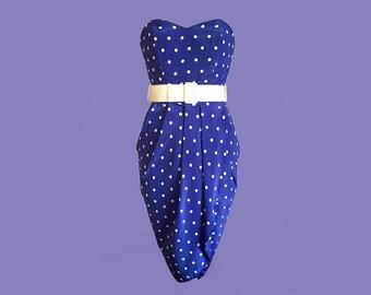 Vintage rockabilly style polka dot dress